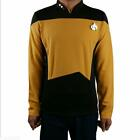 Cosplay Star Trek Starfleet Command Shirt Uniform Star Trek TNG Yellow Uniform on eBay