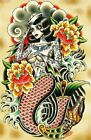 Sailor Made by Tyler Bredeweg Sailor Mermaid Traditional Tattoo Canvas Art Print