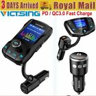 VictSing Wireless Bluetooth FM Transmitter Car Kit Player MP3 Fast USB Charger