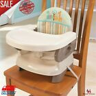 Deluxe Folding Booster Seat With Tray For Comfort Baby Child Chair Straps