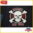 FREESHIP 90's Detroit Pistons Bad Boys TShirt Basketball Black T-Shirt All Size image