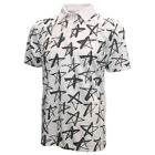 Loudmouth Men's Fancy Shooting Stars Golf Polo, New