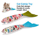 Cat Catnip Toys Cute Cat Fish Toy Cat Scratch Teeth Grinding Play Chew Toys