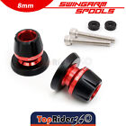 CNC Andoized M8 Swingarm Sliders Spools For Triumph Thruxton 1200R Street Triple $25.43 USD on eBay