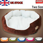 New Deluxe Soft Washable Dog Pet Warm Basket Bed Cushion with Fleece Lining