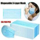 50/100X Protector Face Masks 3-Layer Cover Mouth Facial Covering Vlies Resist