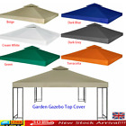 2-Tier 3x3 3x4 m Garden Gazebo Top Cover Roof Replacement Fabric Tent Canopy UK