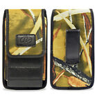 Vertical Heavy Duty Rugged Belt Clip Camou Pouch Holster 5.28 x 2.64 x 0.63 inch