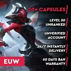 💥 EUW League of Legends LOL Account 30.000 - 70.000 BE Unranked Smurf Level 30