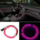 1-5M Car LED Atmosphere EL Wire String Light Neon Strip Rope Lamp Auto parts UK