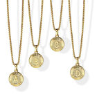 "18"" New Gold Plated Initial Letter Necklace Pendant  Stainless Steel Box Chain image"