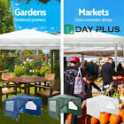 Party Tent Gazebo Marquee 120g Waterproof Canopy Side Panels White Green Blue UK