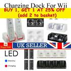 For Nintendo WII Remote Controller 2 Batteries + Charger Charging Dock Station