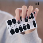 Detachable Full Cover Fake Nail Tips with Glue Sticker Nail Art Stickers Decals