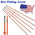 3/6/12X Bow Fishing Arrow Fiberglass Arrows Archery Bow Outdoor Target Hunting