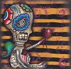 Day of The Dead by Abril Andrade Angel Heart Sugar Skull Canvas Fine Art Print