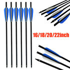 Carbon Arrows Crossbow Bolts for Archery Nocks Target  Hunting 6X 16-22''