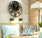 Creative Silent Wall Clock Battery Operated Modern Design Large Swingable Watch