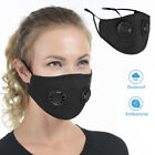 Outdoor Cycling Face Mouth Cover Dual Valves Dustproof Unisex Adjustable Cover
