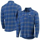 Antigua Chicago Cubs Royal/Gray Flannel Button-Up Shirt on Ebay