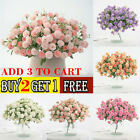 20 Heads Flowers Hydrangea Wreath Fake Artificial Silk Flower Home Party Decor