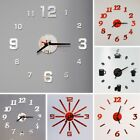 Large Round Skeleton Roman Numeral Modern Home Minimalist Kitchen Wall Clock SH
