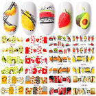 Colorful Summer Fruit Nail Water Decals Stickers Nail Art Transfer Paper Tips