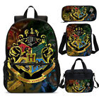 Vintage Harry Potter Hogwarts Backpack Insulated Lunchbox Sling Bag Pen Case Lot