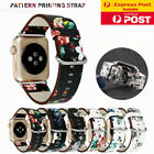 For Apple Watch Band Series Se 6 5 4 3 2 Floral Leather Iwatch Strap Wristband