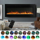 Mains Powered Electric Fires Fireplace Insert Touch Screen Glass Panel Heater UK