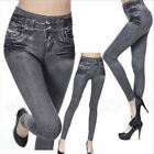 Damen Jeans Stretch Hose Stoffhose Skinny Leggings Leggins Treggings Jeggings/