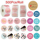 500Pcs/Roll Handmade Thank You Stickers Wedding Birthday Party Flowers Labels