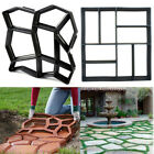 Pathway Mold Concrete Pave Sidewalk Path Garden Stepping Maker Mould PP Plastic image