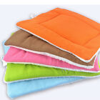 LX_ Dog Puppy Washable Fluffy Fleece Pet Mat Kennel Cage Pad Pet Cushion N