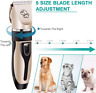 DIOMMELL Dog Clippers Cat Grooming Clippers with Low Noise, Rechargeable Cordles