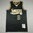men's Philadelphia 76ers Allen Iverson #3 black jersey S-2XL on eBay