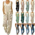Womens Floral Denim Jeans Bib Pants Overalls Jumpsuit Rompers Trousers Suspender