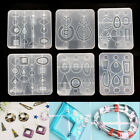 DIY Earring EarHoop Epoxy Resin Mould Jewelry Pendant Silicone Casting Mold Tool
