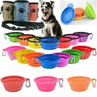 Pet Dog Cat Ditch Travel Water Bowl Silicone Dishes Feeders Puppy Treat Bags