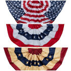 Outdoor American Flag Buntings - Offered in Variety of Sizes and Style - Garden