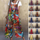Womens Summer Strappy Jumpsuits Wide Leg Overalls Casual Plain Romper Oversized