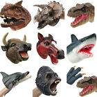 Large Real Shark Animal Hand Puppet For Story Party Animal Head Gloves Kids Toy