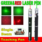 1/2PC Portable Funny Pet Cat Toy 650/532nm Visible Beam Red+Green Laser Pointer