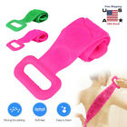 Long Bath Towel Pull Back Strap Wash Scrubber Exfoliating Clean Silicone Wash US