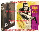 "DR. NO 1958 1st Ed. JAMES BOND French=BOOK & 1962 MOVIE POSTER 10Sizes 14""-4.5FT $248.88 CAD on eBay"