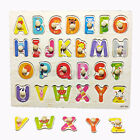 Baby Wooden Uppercase Letters Block Puzzle Board Early Educational Develop