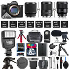 Sony Alpha a7 III Mirrorless 24MP Camera + Shoutgun Mic - Choose Your Lens Kit