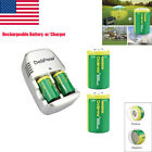 New CR2 3V Lithium-ion Rechargeable Battery 800mAh with Charger US