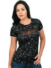 Harley-Davidson Ladies Winged #1 Flash Art Black Short Sleeve Polyester T-Shirt $9.99 USD on eBay