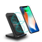 US 10W Fast Qi Wireless Charger Stand Cooling Fan For iPhone 11Pro 8 Samsung S20